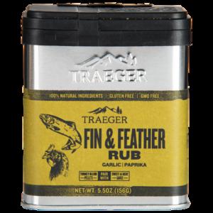 traeger fin feather rub