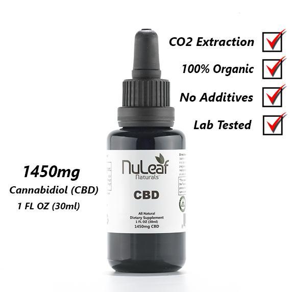NuLeaf 1450mg Full Spectrum CBD Oil, High Grade Hemp Extract (50mg/ml)