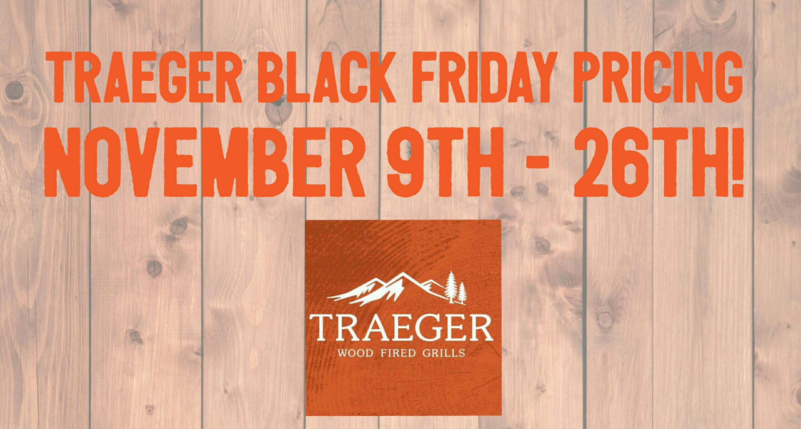 traeger black friday 2018 cover