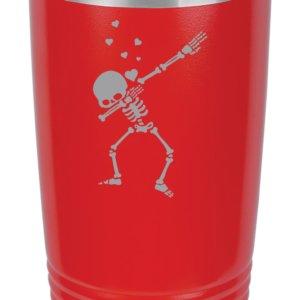 dabbing skeleton custom engraving