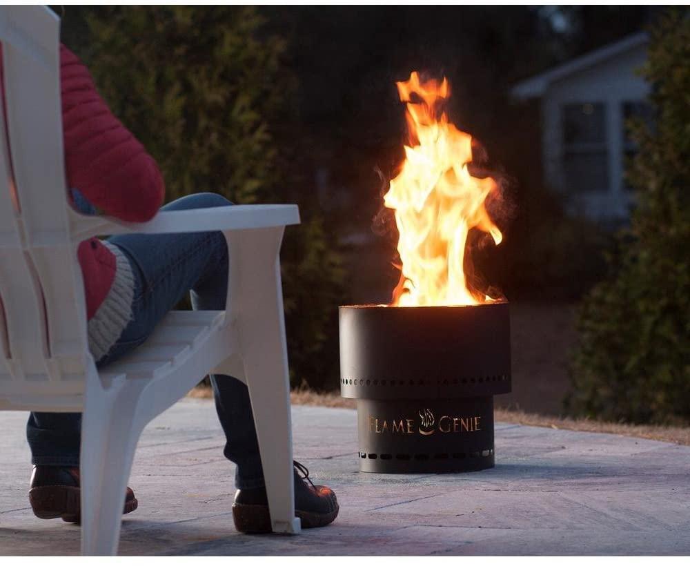 Flame Genie Portable Smoke-Free Wood Pellet Fire Pit ...