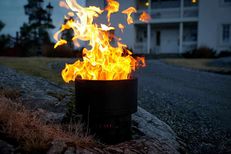 Flame Genie Portable Smoke Free Wood Pellet Fire Pit Woodard Mercantile