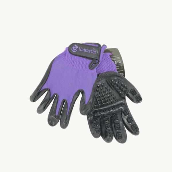Hands on gloves purple