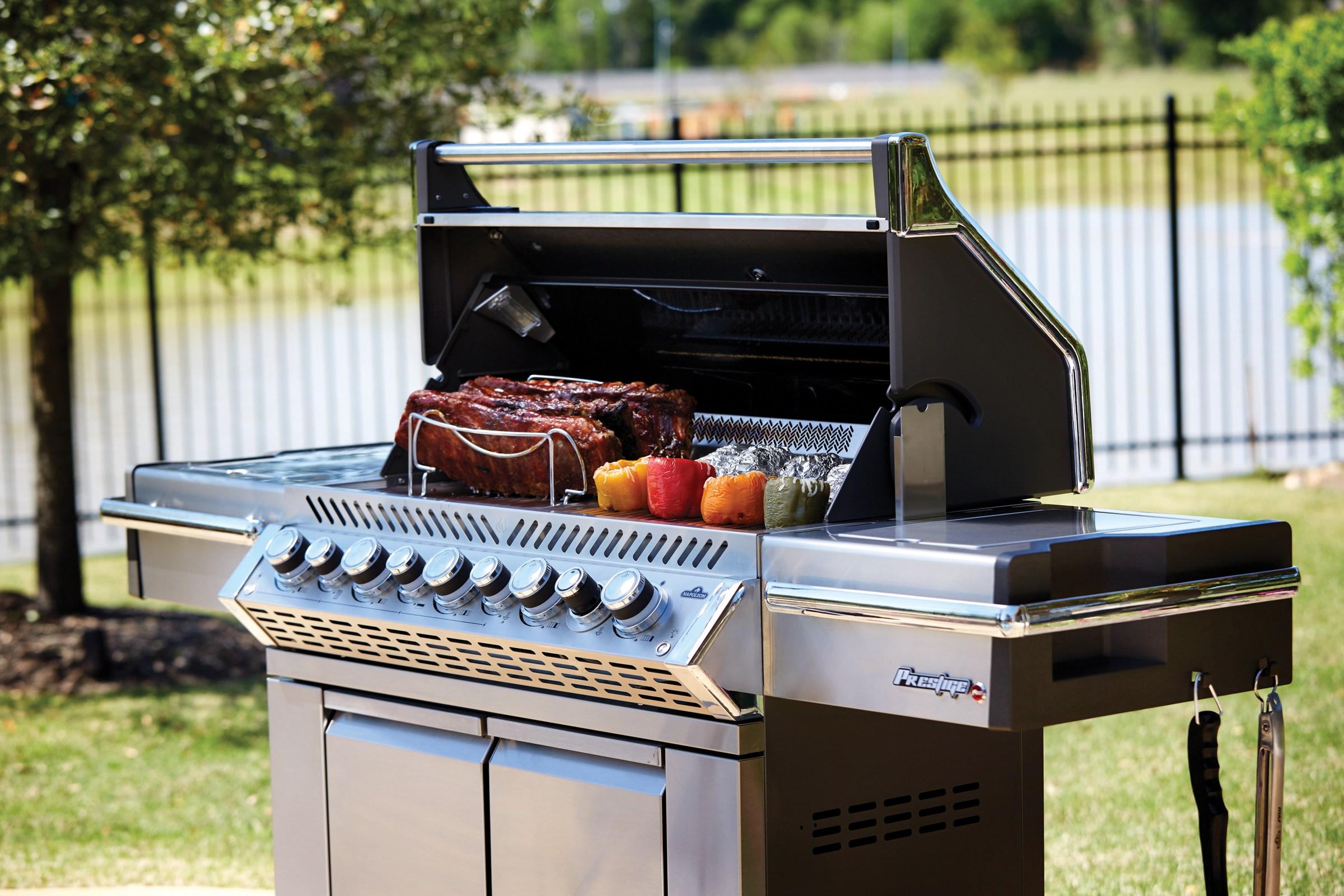 napoleon grill outside
